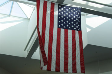 american flag at Jacksonville, FL aiport